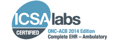 AXEIUM ICSA Lab Certified ONC-ATB 2014 Edition Complete EHR Ambulatory