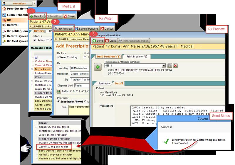 AXEIUM surescripts certified ePrescribe new Rx workflow